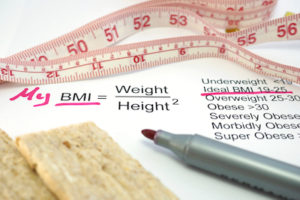 phentramin-d weight management support or obesity treatment measuring tape and BMI formula